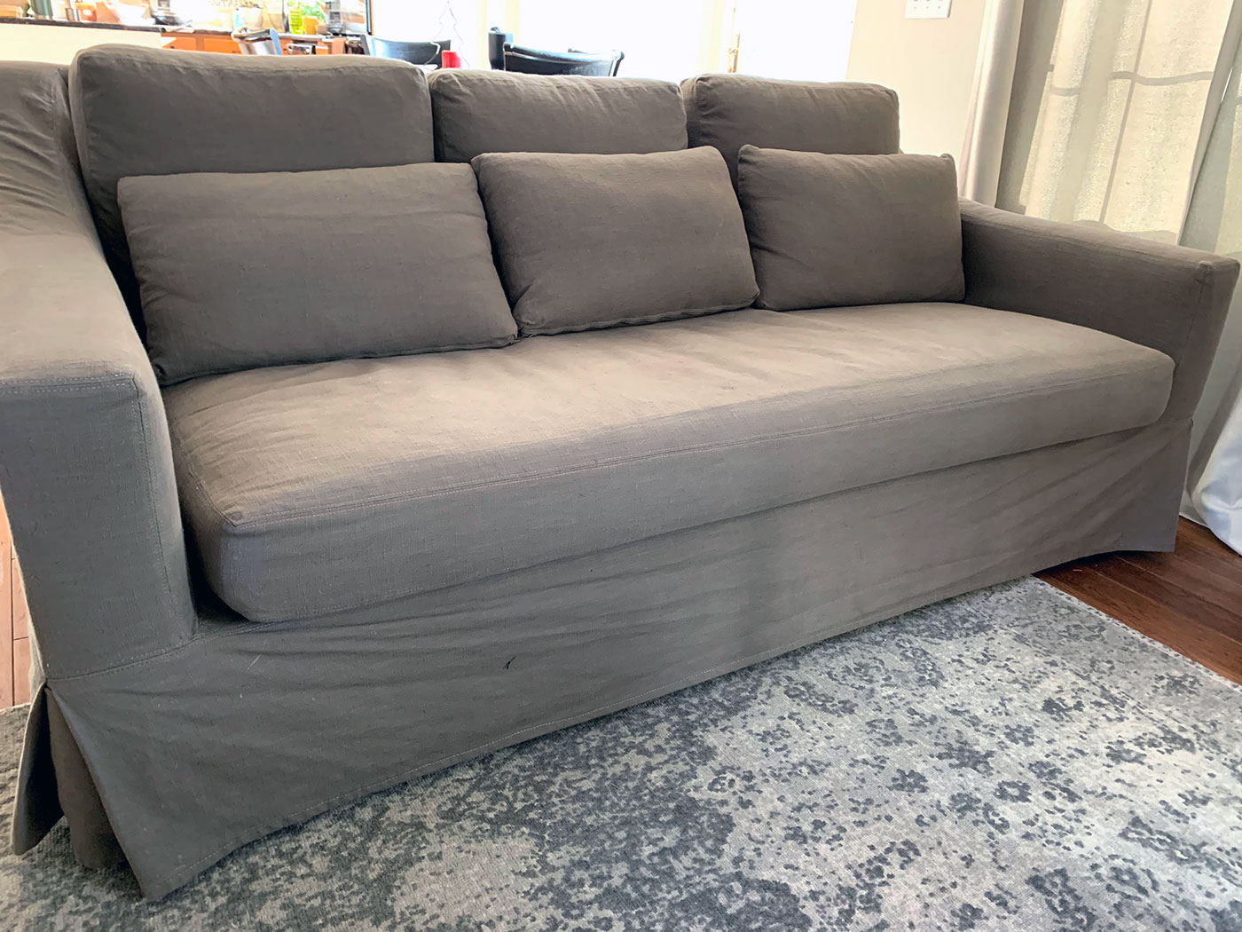 An Honest Review Of The Pottery Barn York Slope Arm Slipcovered Sofa